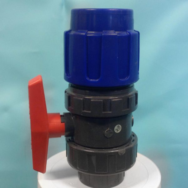 Ventil klämkoppling/lim PVC